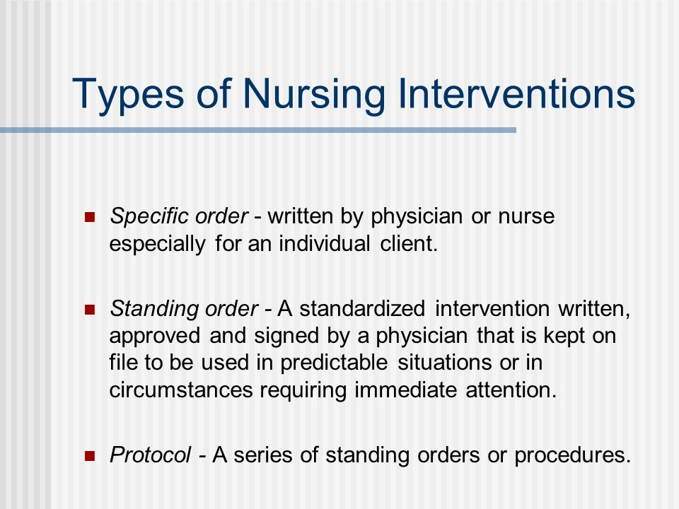 Types of Nursing Interventions