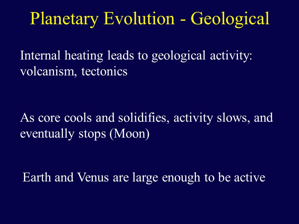 Planetary Evolution - Geological