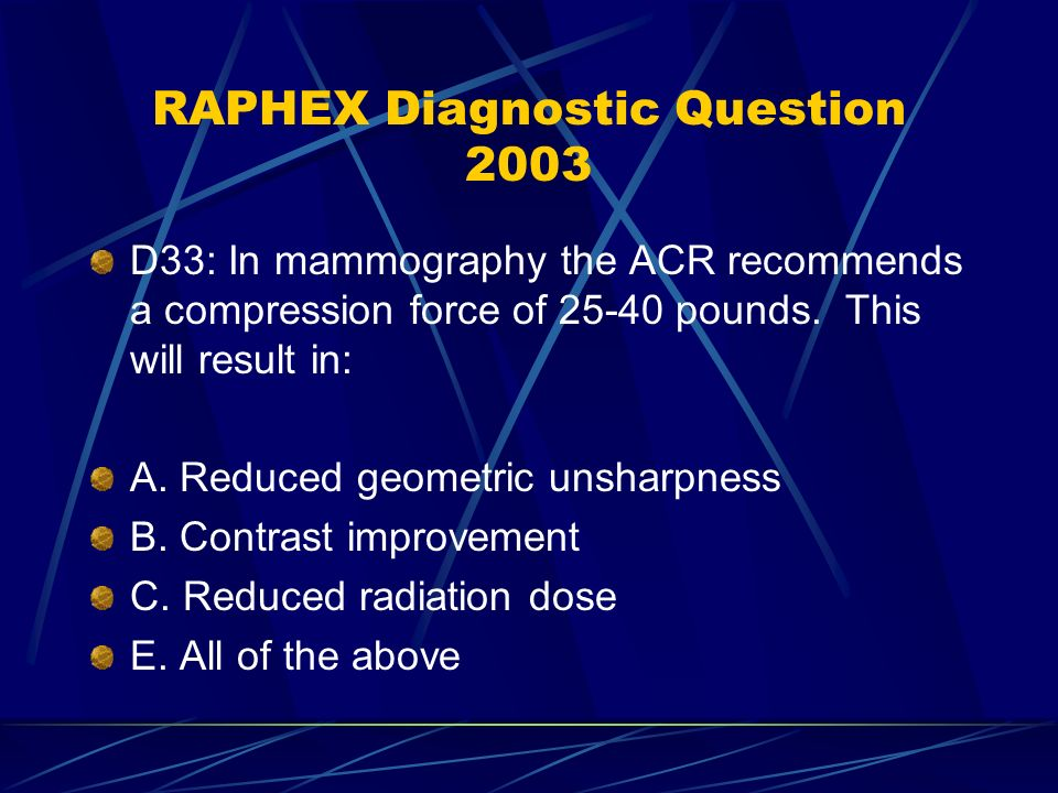 Mammography Questions and Answers - ppt video online download