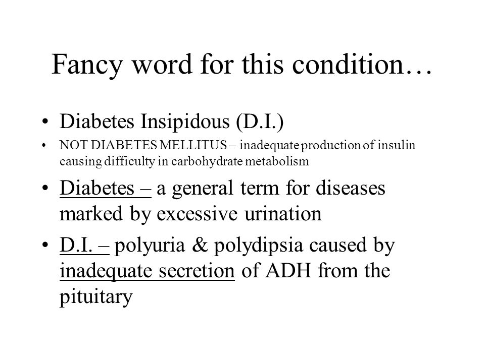Fancy word for this condition…