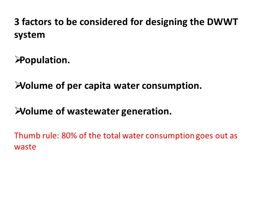 DECENTRALISED WASTEWATER TREATMENT AND REUSE Components and