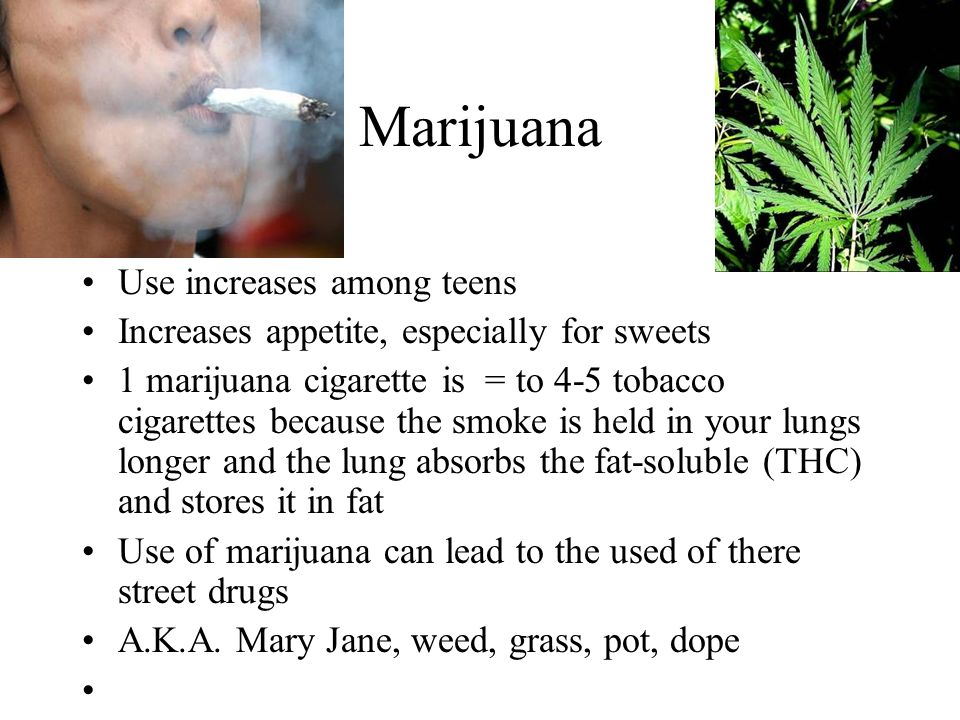 Marijuana Use increases among teens