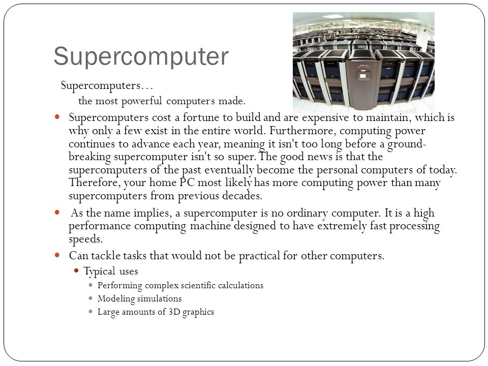 Types Of Computers Computer Hardware Ppt Video Online