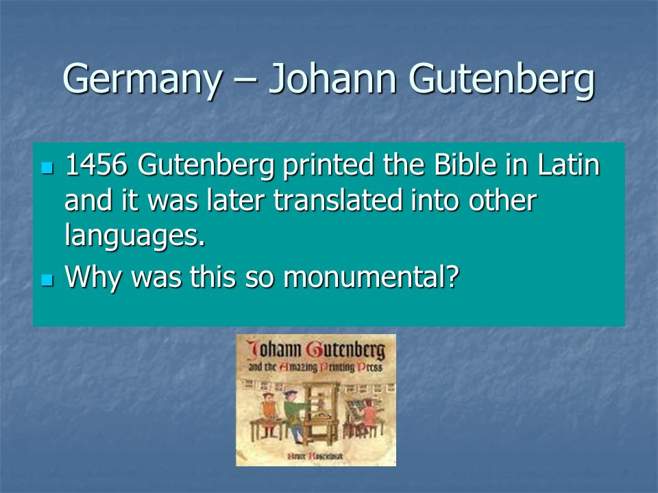 Germany – Johann Gutenberg