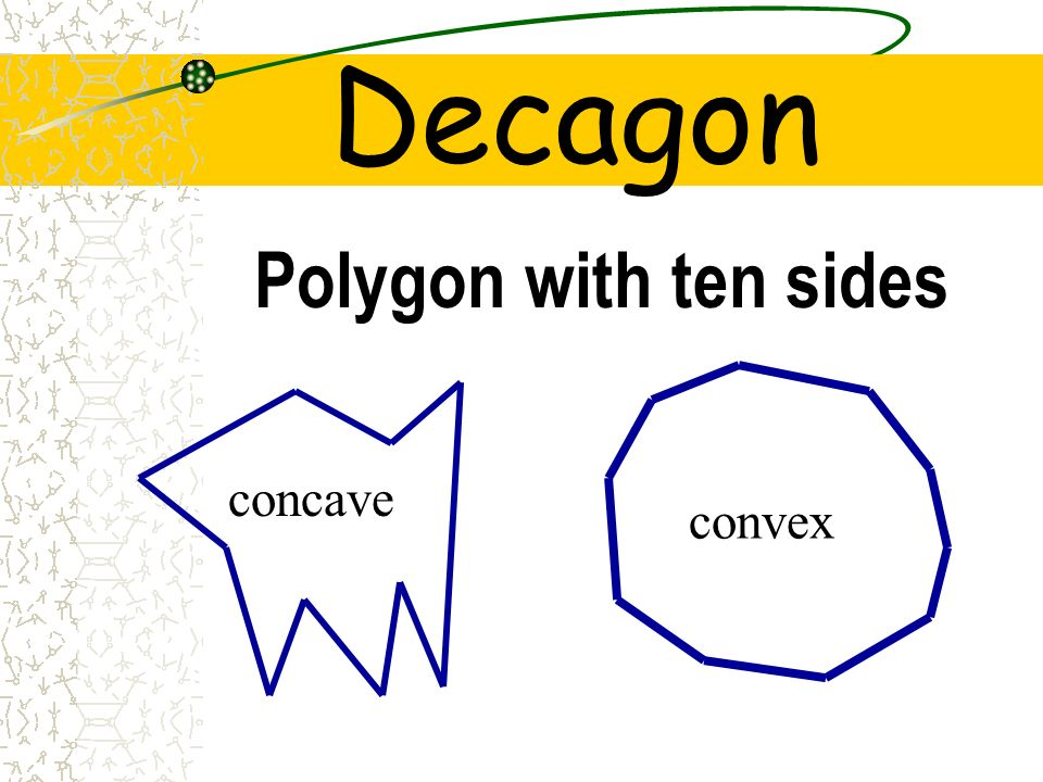Decagon Polygon with ten sides convex concave