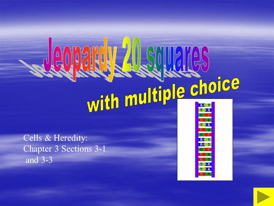 Jeopardy 20 squares with multiple choice