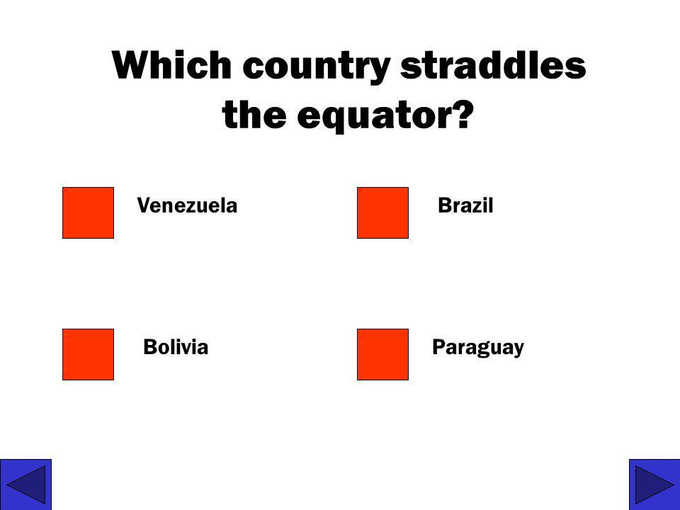 Which country straddles the equator
