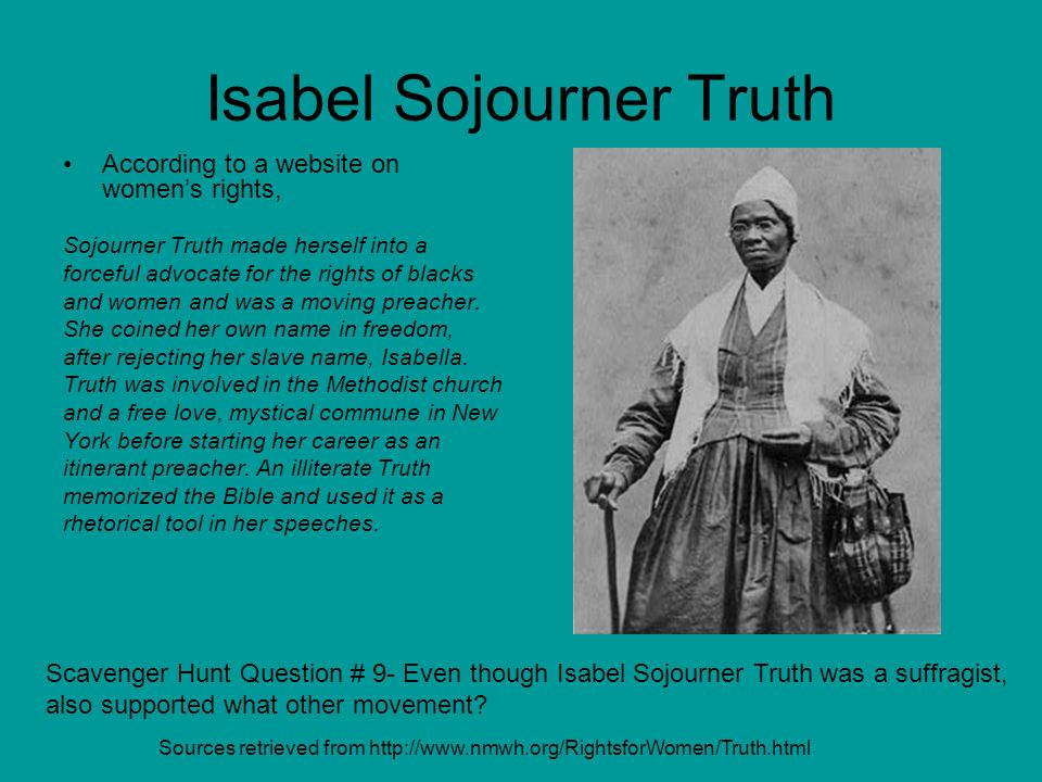Isabel Sojourner Truth