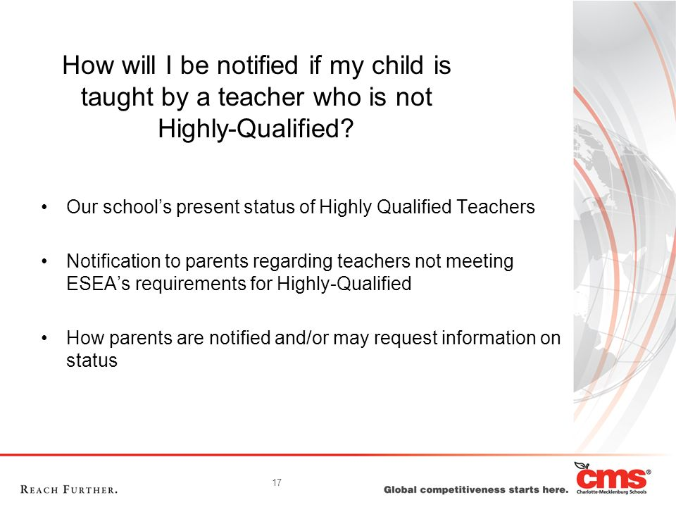 How will I be notified if my child is taught by a teacher who is not Highly-Qualified