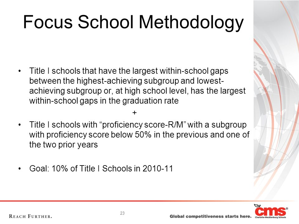 Focus School Methodology