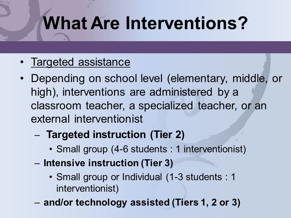 What Are Interventions