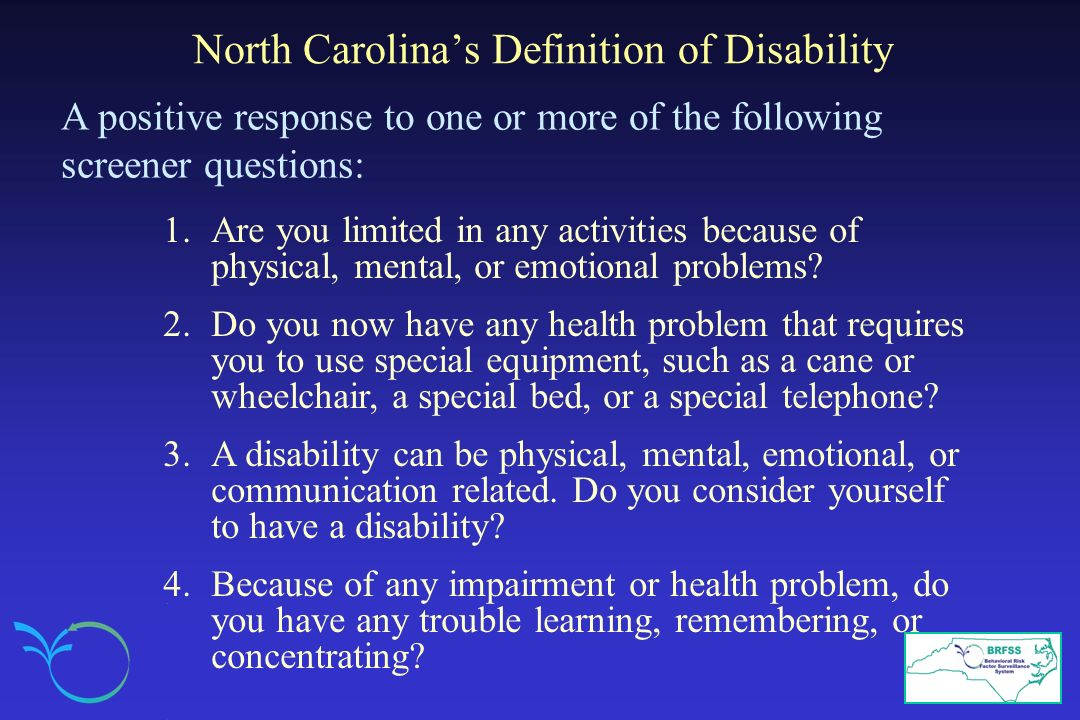 North Carolina's Definition of Disability