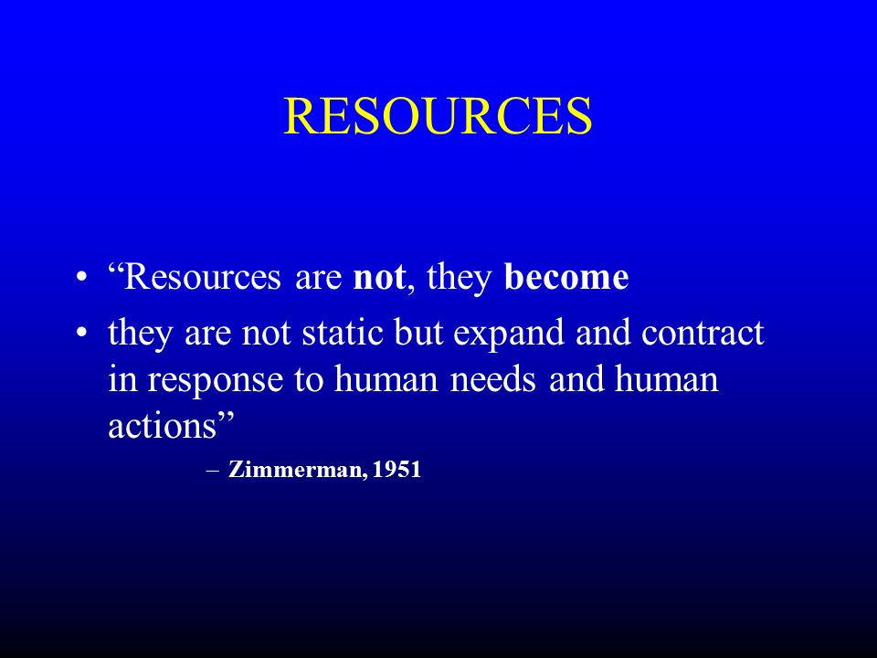 simple definition of resources