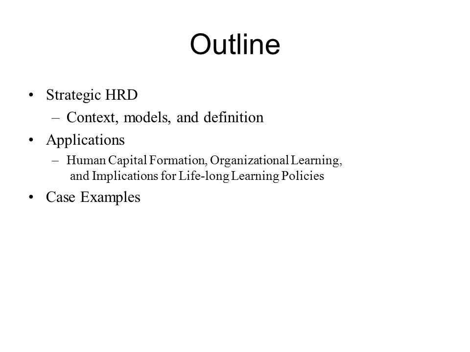 definition and characteristics of human capital development