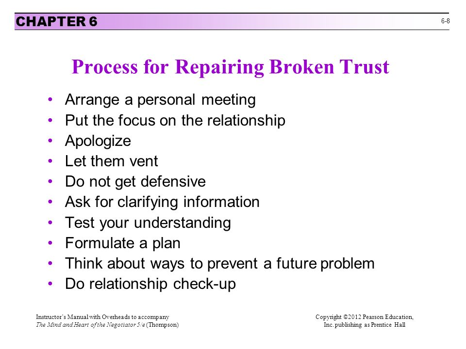 Establishing Trust and Building a Relationship - ppt download