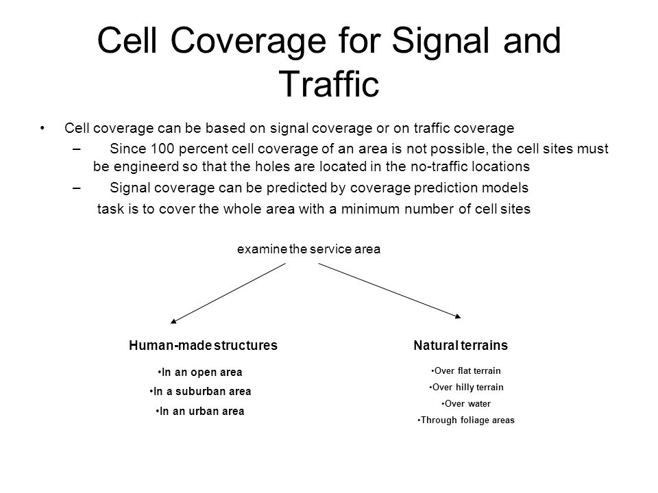 Cell Coverage for Signal and Traffic - ppt video online download
