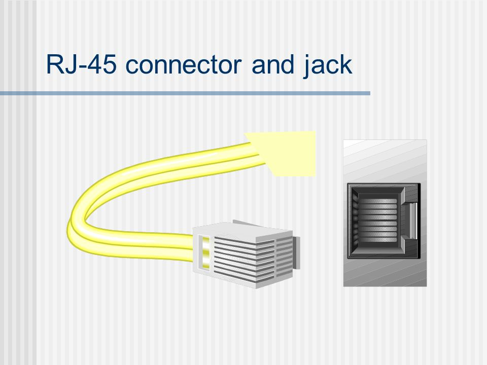 RJ-45 connector and jack
