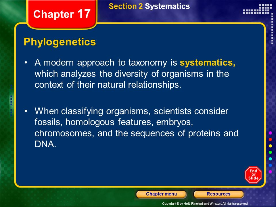 Chapter 17 Phylogenetics