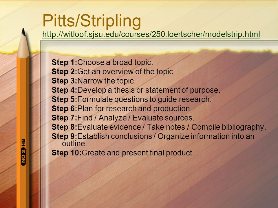 Pitts/Stripling http://witloof. sjsu. edu/courses/250