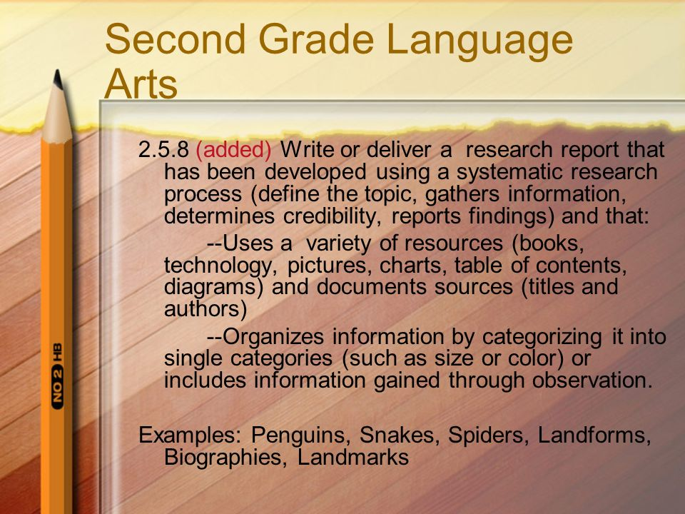Second Grade Language Arts