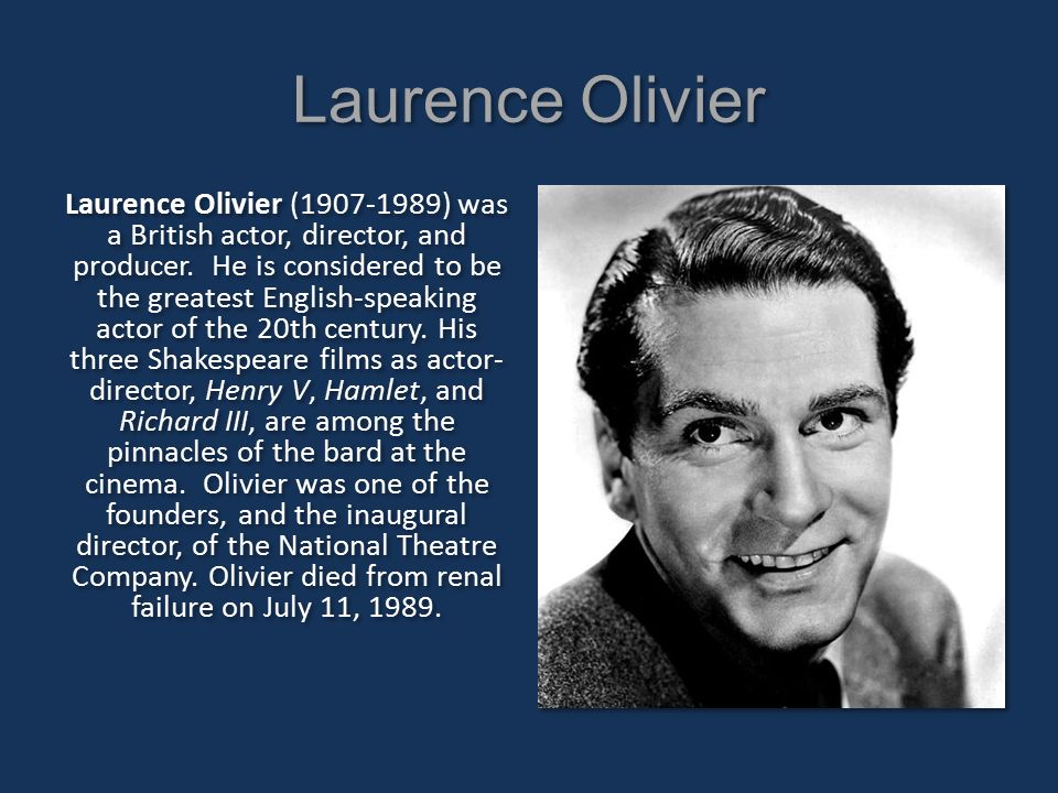 Image result for sir laurence olivier died