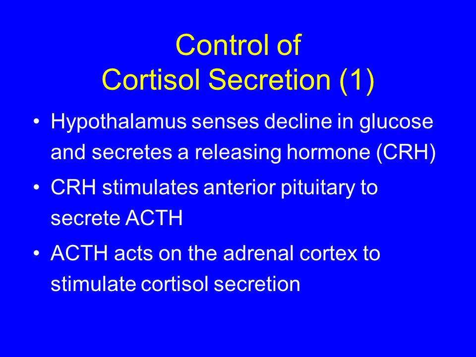 Control of Cortisol Secretion (1)