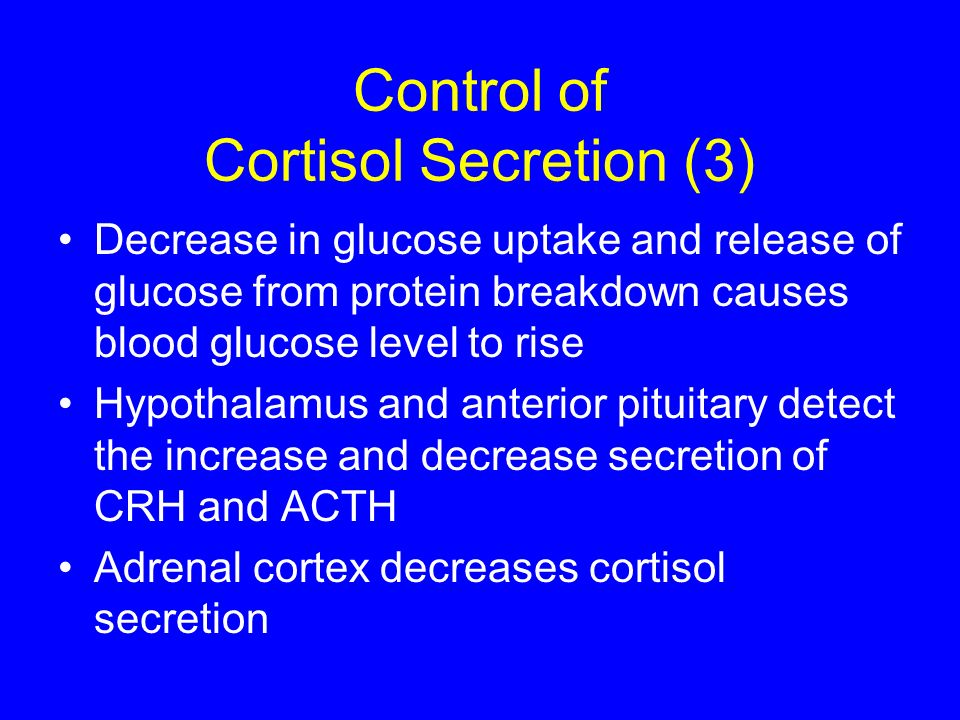 Control of Cortisol Secretion (3)