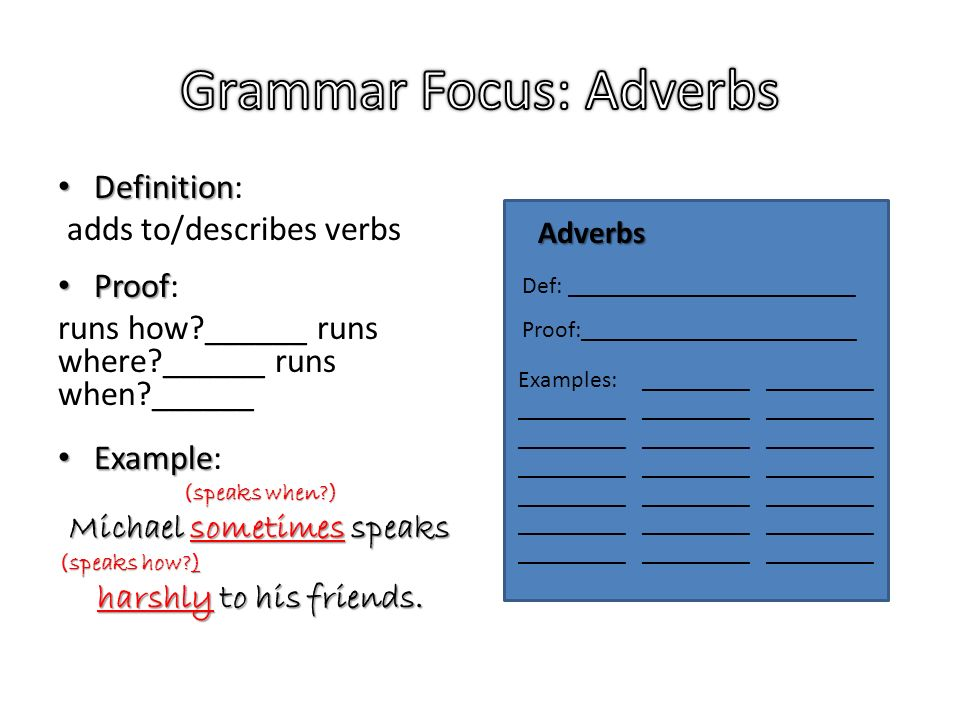 Adverbs Pronouns And Prepositions Ppt Download