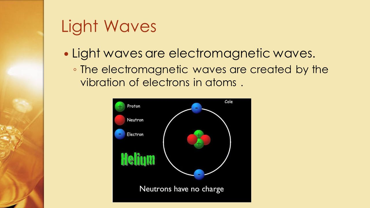 Light Waves Light waves are electromagnetic waves.