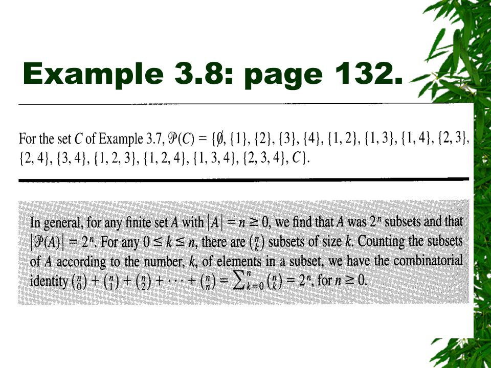 Example 3.8: page 132.