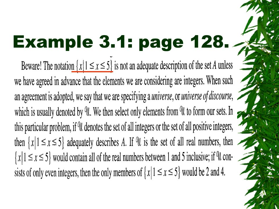 Example 3.1: page 128.