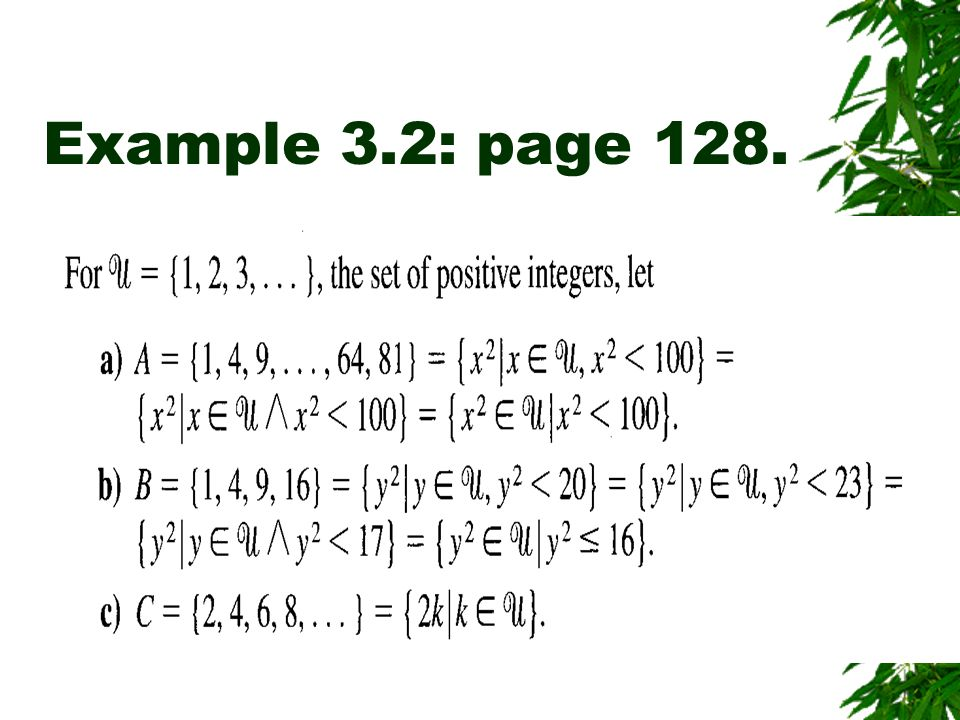Example 3.2: page 128.