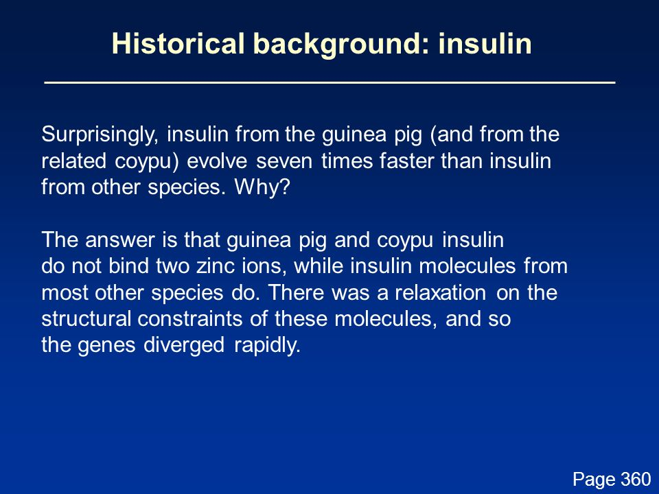 Historical background: insulin
