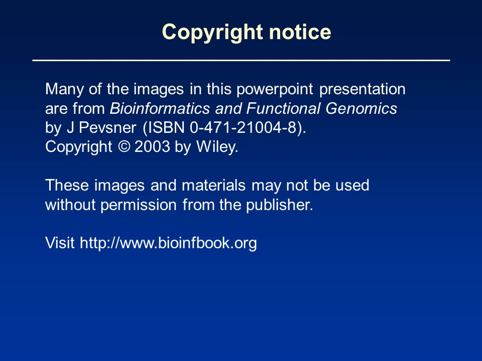 Copyright notice Many of the images in this powerpoint presentation