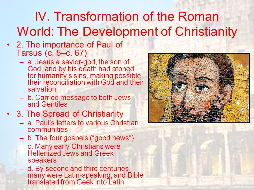 a letter to an early christian community is called ancient rome chapter ppt 26245