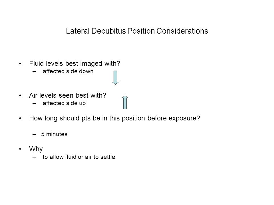 Lateral Decubitus Position Considerations