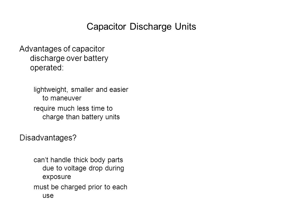 Capacitor Discharge Units