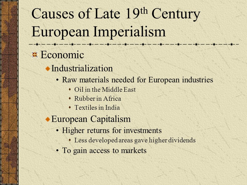 in the nineteenth century imperialism