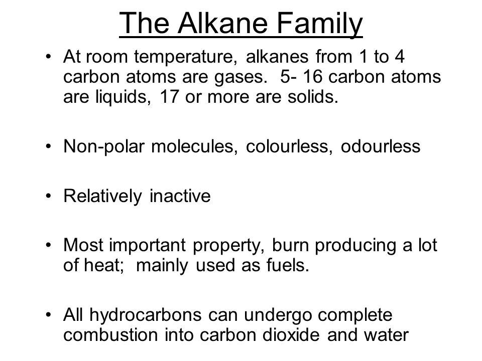 Which Alkanes Are Liquids At Room Temperature