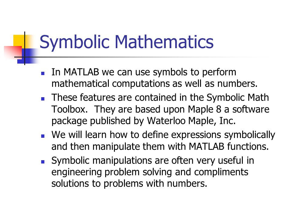 Chapter 12 Review Symbolic Mathematics Ppt Video Online Download