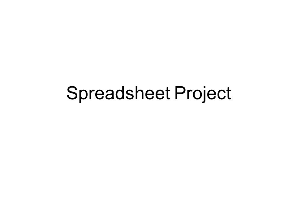 spreadsheet project ppt download