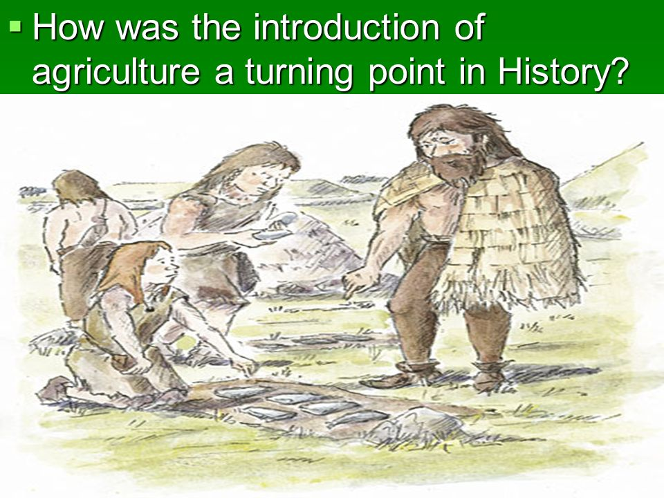 How was the introduction of agriculture a turning point in History