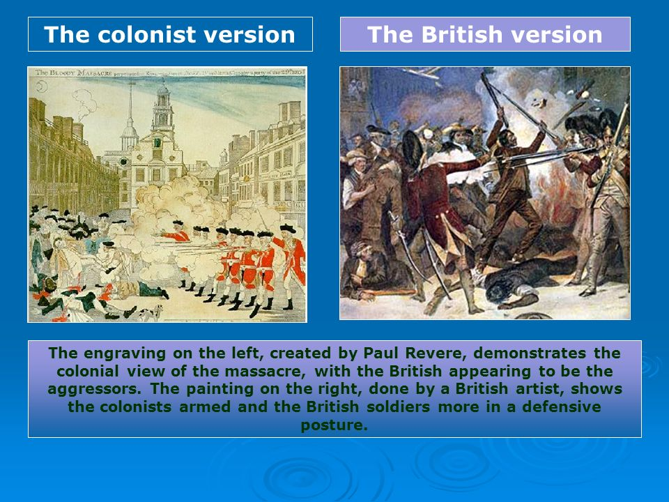 The colonist version The British version
