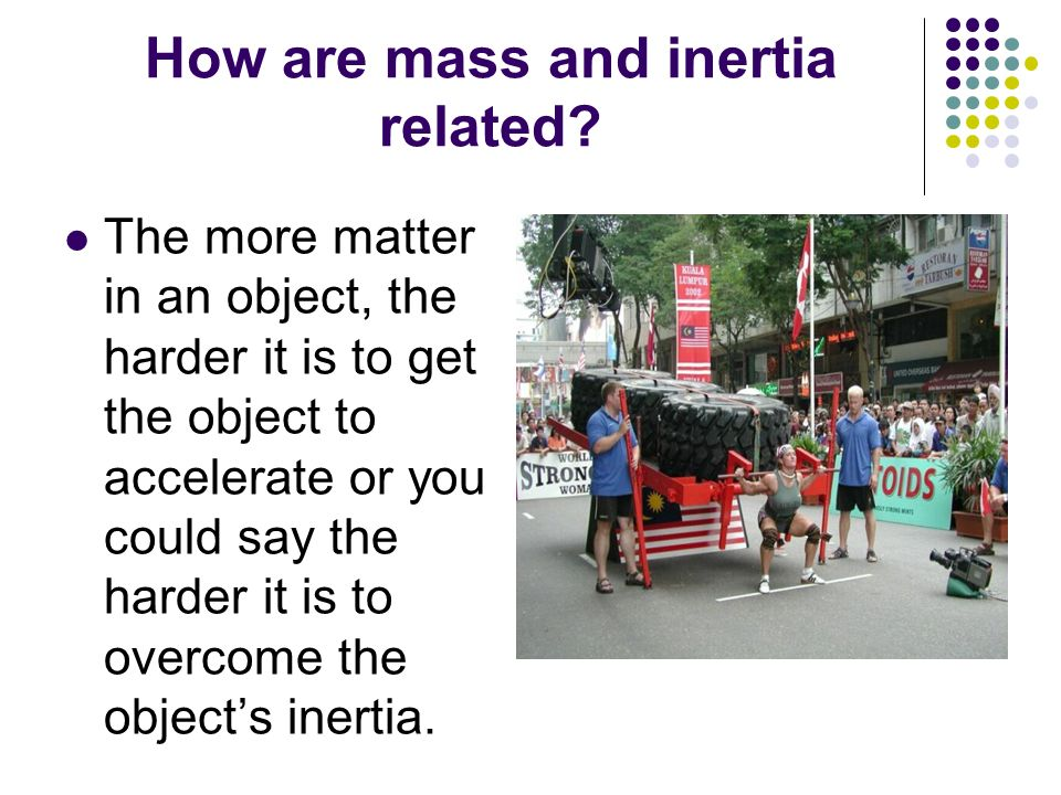 How are mass and inertia related