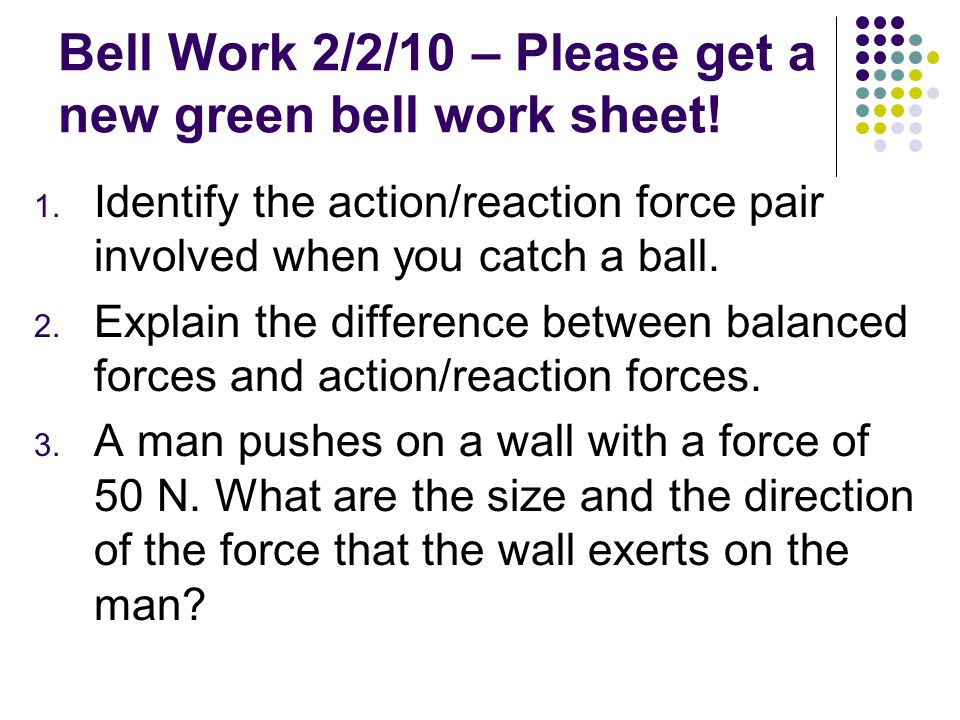 Bell Work 2/2/10 – Please get a new green bell work sheet!