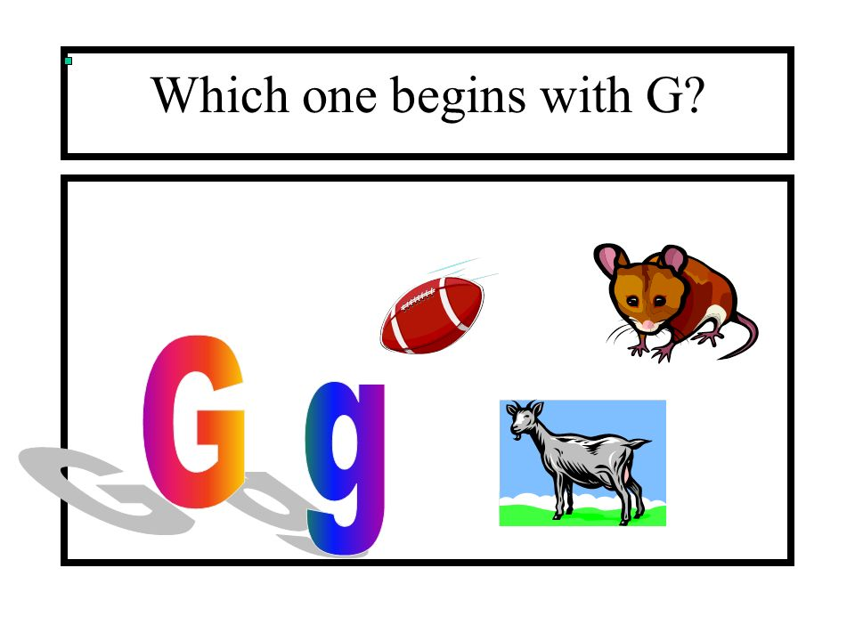 Which one begins with G G g