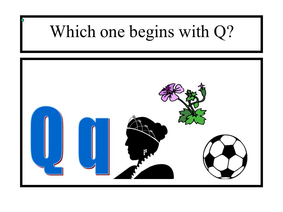 Which one begins with Q Q q