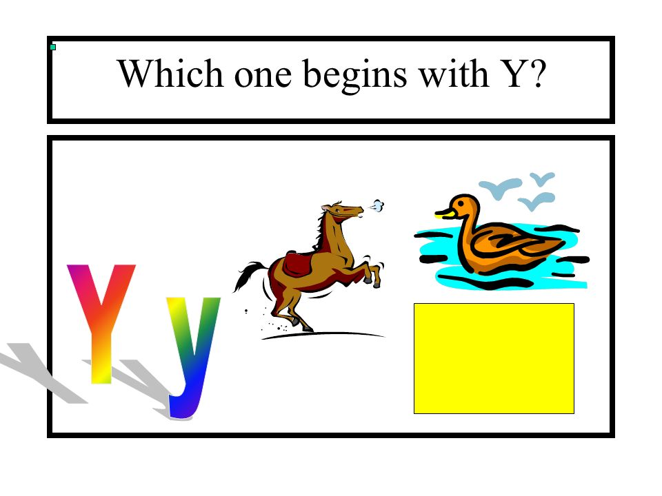 Which one begins with Y Y y