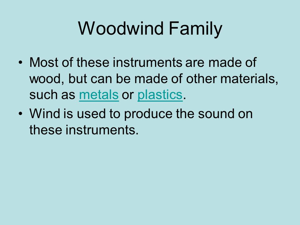 Woodwind Family The sound clips do not work on the web version