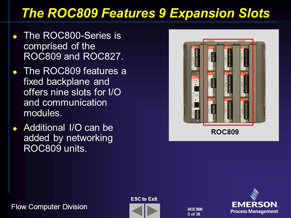 Roc800 Series Remote Operations Controller Ppt Video